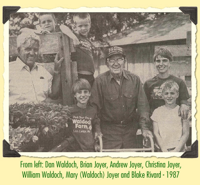 The family of Waldoch workers in 1987
