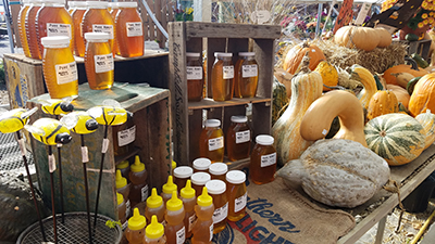 Honey for sale at Waldoch Farm